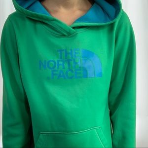 The North Face Green and Blue Pullover Hoodie